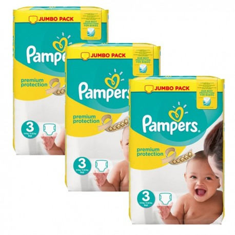 522 Couches Pampers Premium Protection taille 3 sur Sos Couches