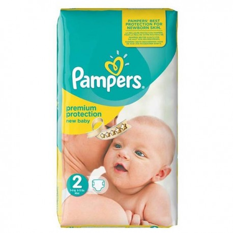52 Couches Pampers Premium Protection taille 2 sur Sos Couches