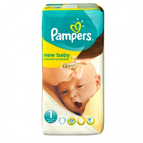 56 Couches Pampers Premium Protection taille 1 sur Sos Couches