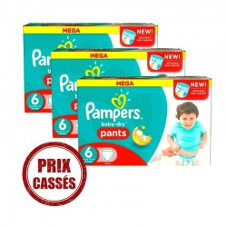 504 Couches Pampers Baby Dry Pants taille 6