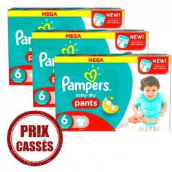 648 Couches Pampers Baby Dry Pants taille 6