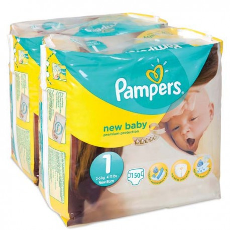 840 Couches Pampers Premium Protection taille 1 sur Sos Couches