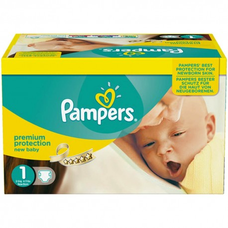896 Couches Pampers Premium Protection taille 1 sur Sos Couches