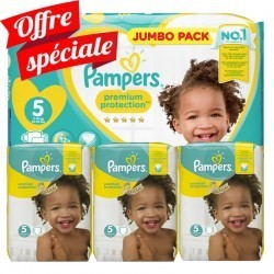 204 Couches Pampers Premium Protection taille 5
