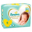 30 Couches Pampers Premium Care taille 0 sur Sos Couches