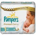 52 Couches Pampers Premium Care taille 1 sur Sos Couches