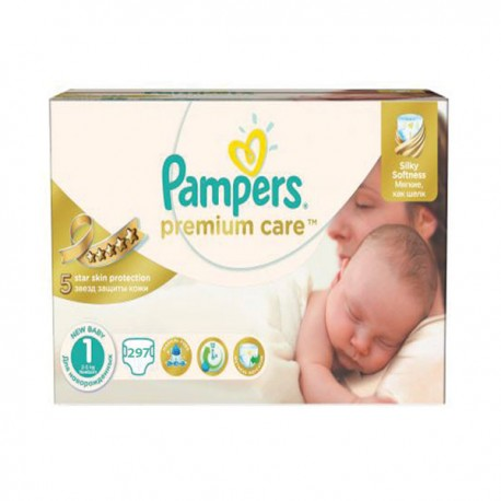 624 Couches Pampers Premium Care taille 1 sur Sos Couches
