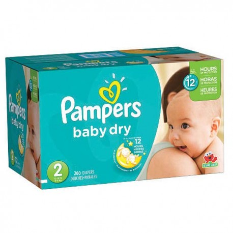 136 Couches Pampers New Baby Dry taille 2 sur Sos Couches