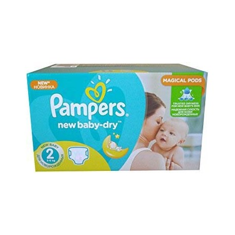 544 Couches Pampers New Baby Dry taille 2 sur Sos Couches