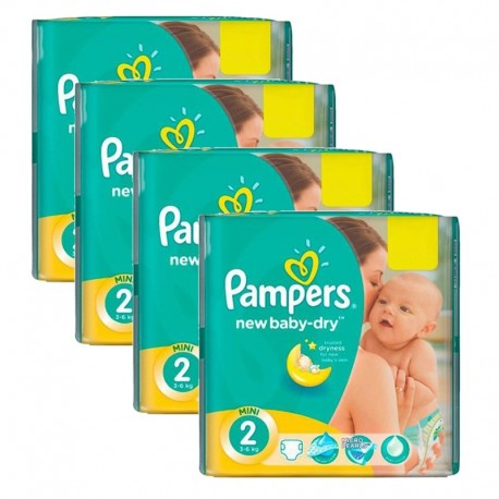 612 Couches Pampers New Baby Dry taille 2 sur Sos Couches