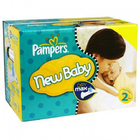 748 Couches Pampers New Baby Dry taille 2 sur Sos Couches