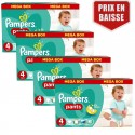 620 Couches Pampers Baby Dry Pants taille 4 sur Sos Couches