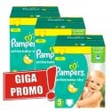 84 Couches Pampers Active Baby Dry taille 5 sur Sos Couches