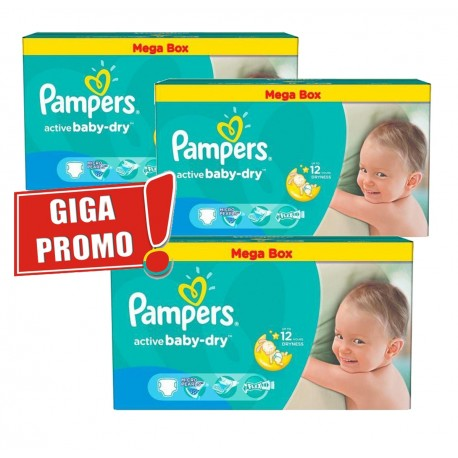 378 Couches Pampers Active Baby Dry taille 5 sur Sos Couches