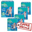 432 Couches Pampers Active Baby Dry taille 6 sur Sos Couches