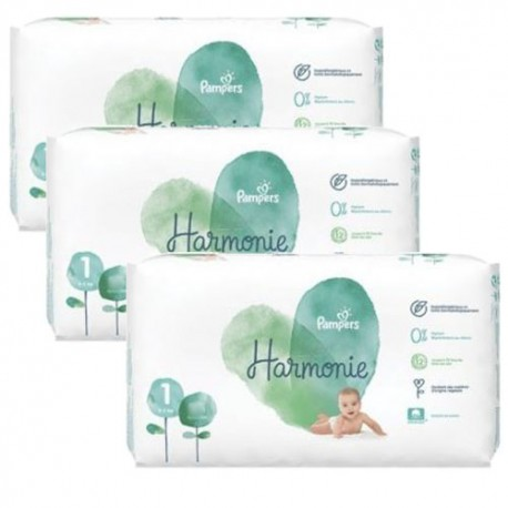 136 Couches Pampers Harmonie taille 1 sur Sos Couches