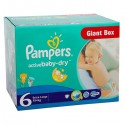 Giga Pack 144 couches Pampers Active Baby Dry sur Sos Couches