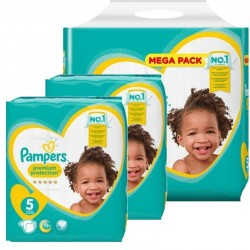 120 Couches Pampers Premium Protection taille 5