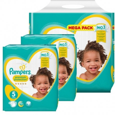 120 Couches Pampers Premium Protection taille 5 sur Sos Couches