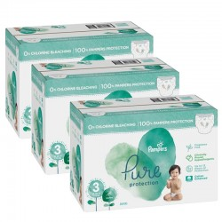 66 Couches Pampers Pure Protection taille 3