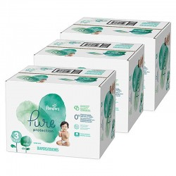 176 Couches Pampers Pure Protection taille 3