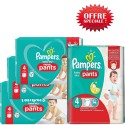 150 Couches Pampers Baby Dry Pants taille 4 sur Sos Couches