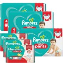 180 Couches Pampers Baby Dry Pants taille 4 sur Sos Couches