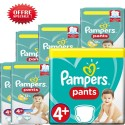 100 Couches Pampers Baby Dry Pants taille 4+ sur Sos Couches
