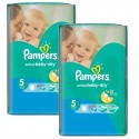 44 Couches Pampers Active Baby Dry taille 5 sur Sos Couches