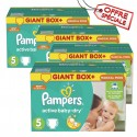 132 Couches Pampers Active Baby Dry taille 5 sur Sos Couches
