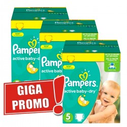 286 Couches Pampers Active Baby Dry taille 5