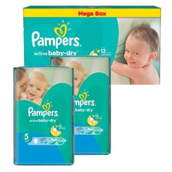 330 Couches Pampers Active Baby Dry taille 5