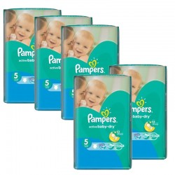 374 Couches Pampers Active Baby Dry taille 5