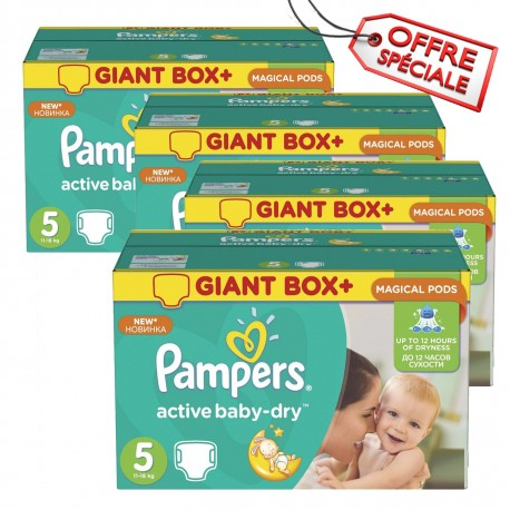 418 Couches Pampers Active Baby Dry taille 5 sur Sos Couches