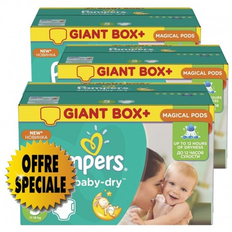 550 Couches Pampers Active Baby Dry taille 5 sur Sos Couches