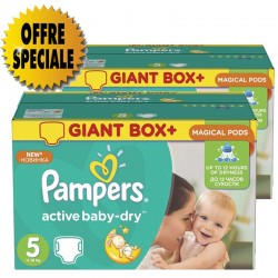 572 Couches Pampers Active Baby Dry taille 5