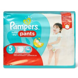 22 Couches Pampers Baby Dry Pants taille 5