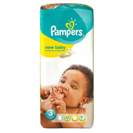 20 Couches Pampers New Baby Premium Protection taille 3 sur Sos Couches