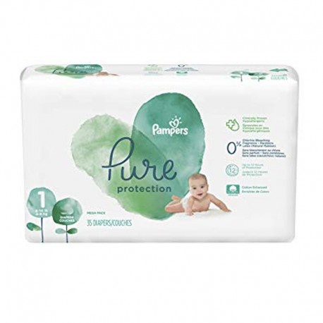 35 Couches Pampers Pure Protection taille 1 sur Sos Couches