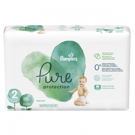 27 Couches Pampers Pure Protection taille 2 sur Sos Couches