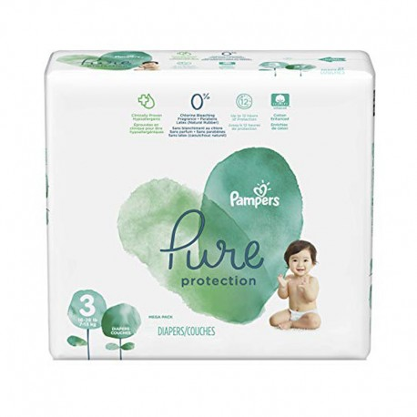 22 Couches Pampers Pure Protection taille 3 sur Sos Couches