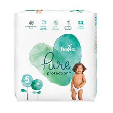 17 Couches Pampers Pure Protection taille 5 sur Sos Couches