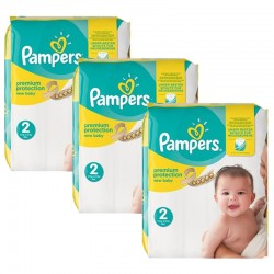 248 Couches Pampers New Baby Premium Protection taille 2