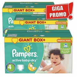 204 Couches Pampers Active Baby Dry taille 4