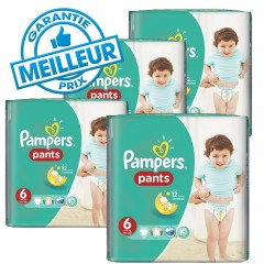 196 Couches Pampers Baby Dry Pants taille 6