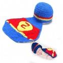 Premier ensemble nouveaux nés Choupinet Superman taille 6-18Mois sur Sos Couches