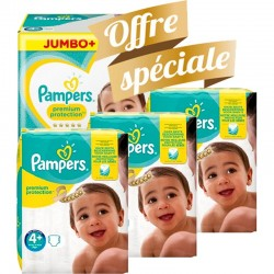200 Couches Pampers New Baby Premium Protection taille 4+