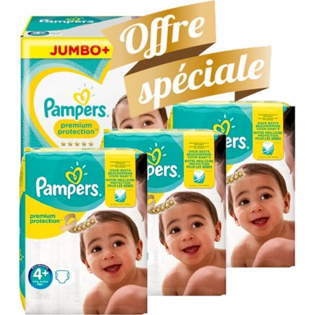 250 Couches Pampers New Baby Premium Protection taille 4+ sur Sos Couches