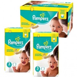 245 Couches Pampers New Baby Premium Protection taille 3