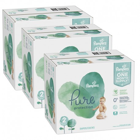 378 Couches Pampers Pure Protection taille 2 sur Sos Couches